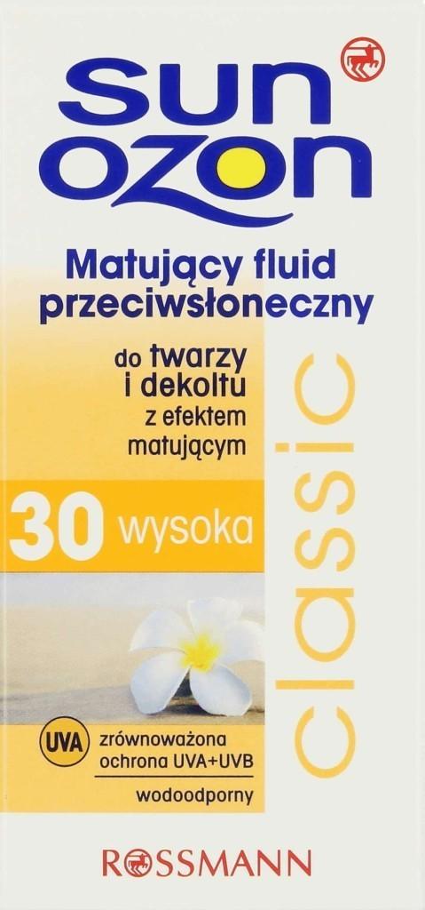 Sunozon Classic, matuj¦ůcy fluid przeciws+éoneczny SPF 30_Rossmann