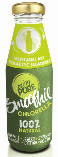 smoothie chlorella zielony